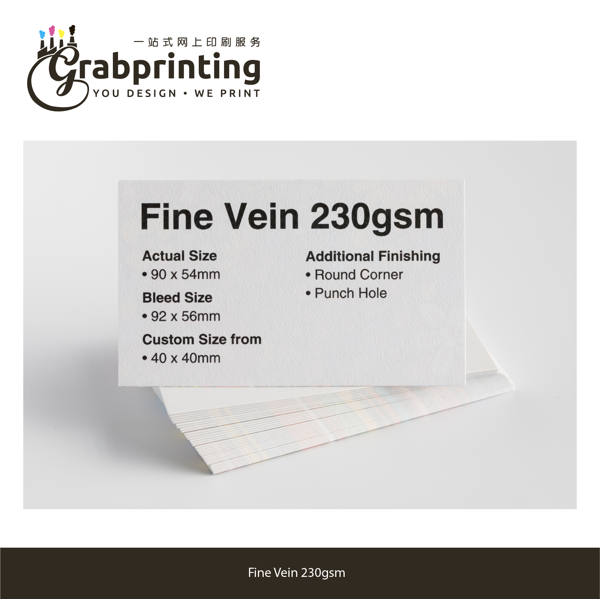 Name Card Sample Kit grabprinting 36 Fine Vein 230gsm 501px 501px