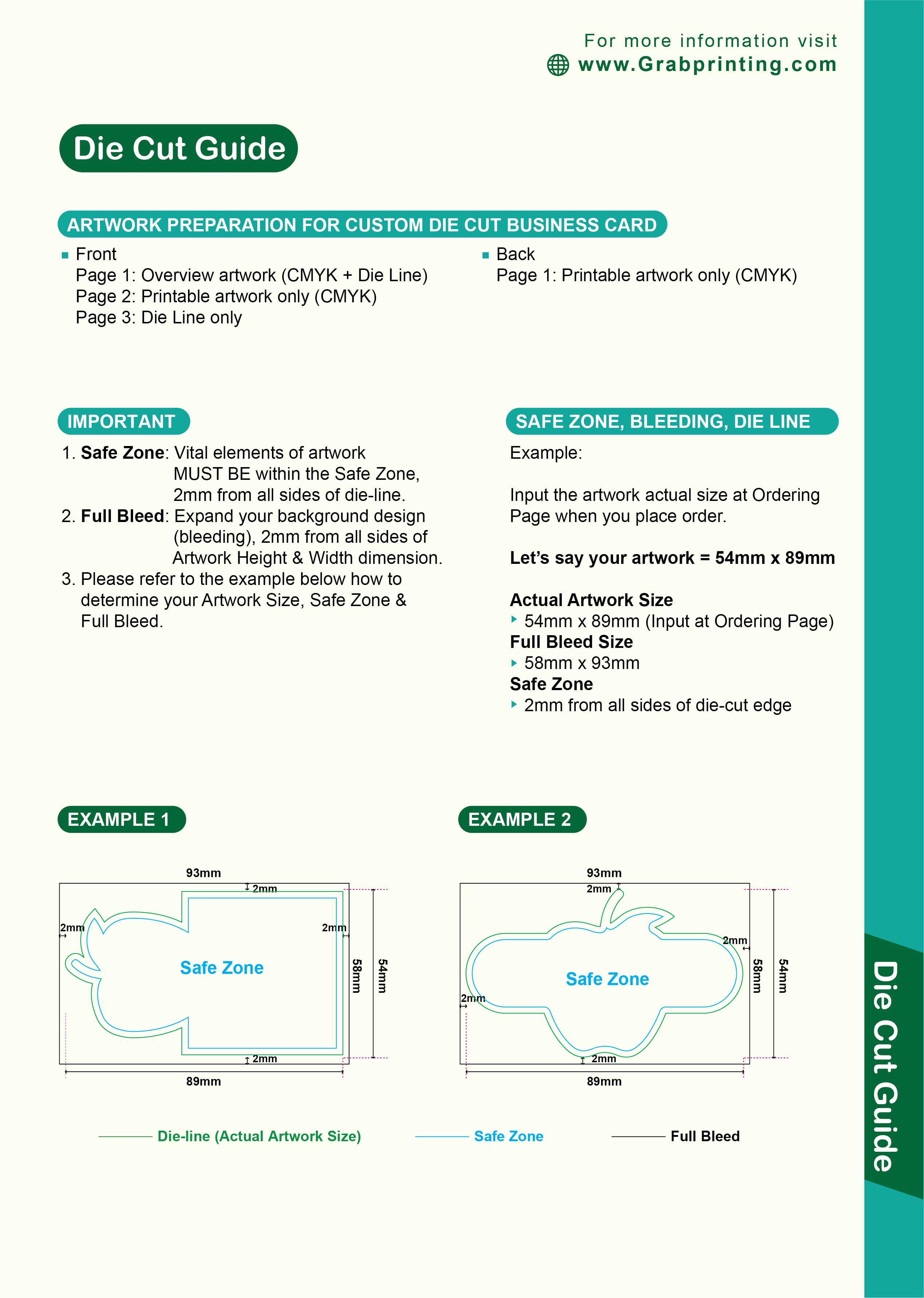 Die cut guide Die Cut Guide 1