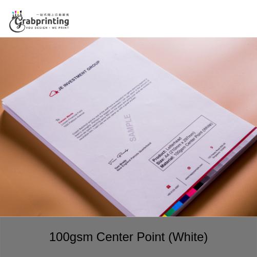 Letterhead Printing 100gsm Center Point White