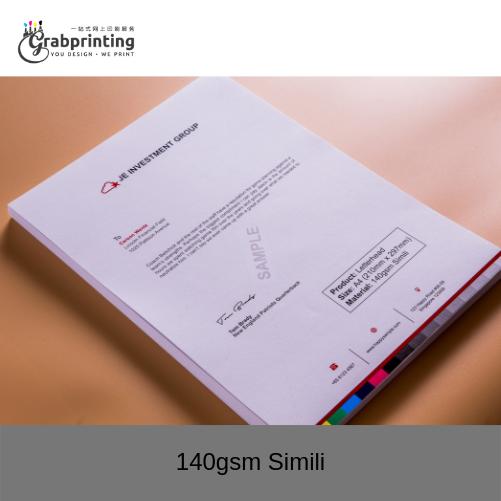 Letterhead Printing 140gsm Simili