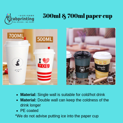 Paper Cup Printing 500ml 700ml