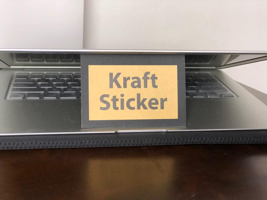Stickers Sample Kit Kraft Sticker Printing