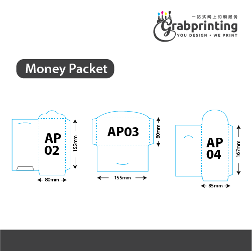 Custom Money Packet Printing (157gsm Art Paper) Money Packet Printing Diagram