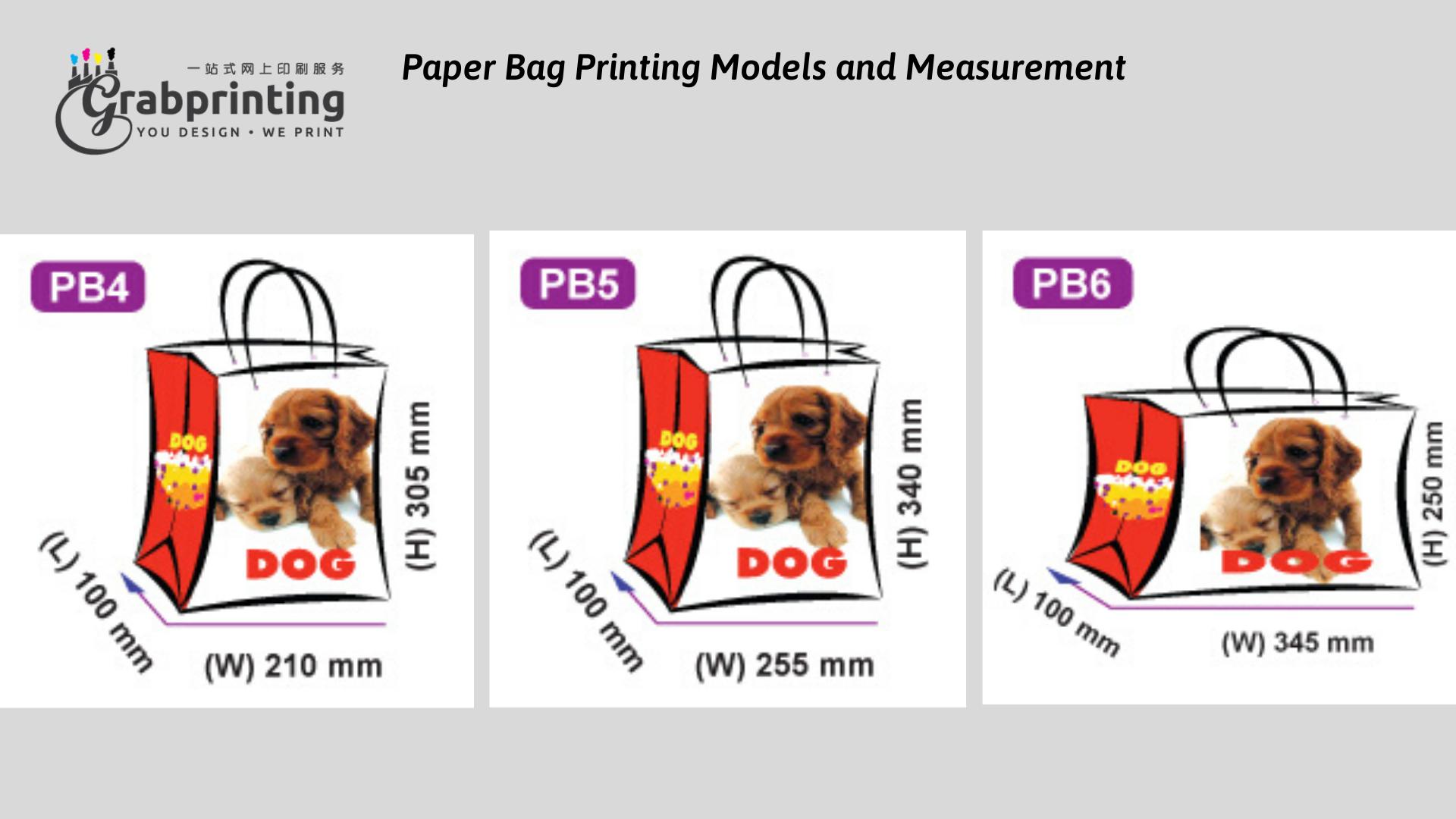 Kraft Paper Bag Printing Paper Bag Printing Models and Measurement 2