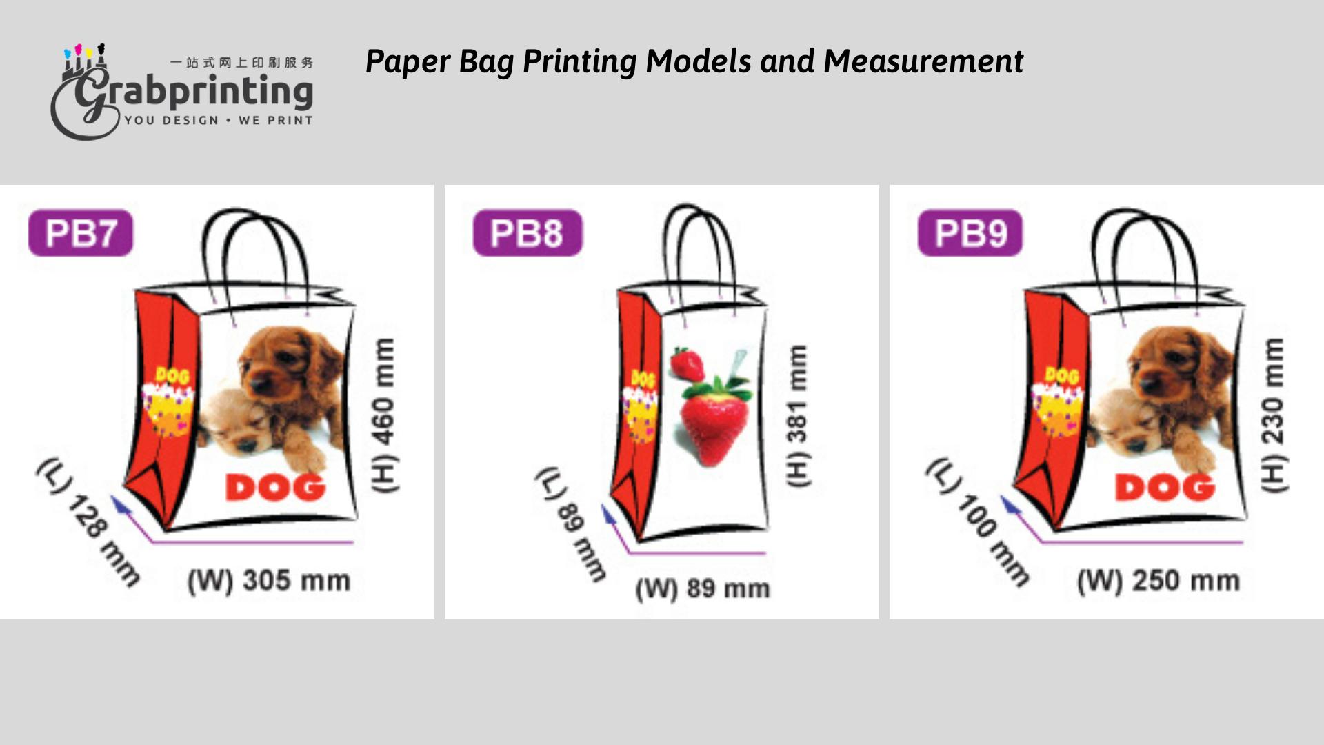 Kraft Paper Bag Printing Paper Bag Printing Models and Measurement 3