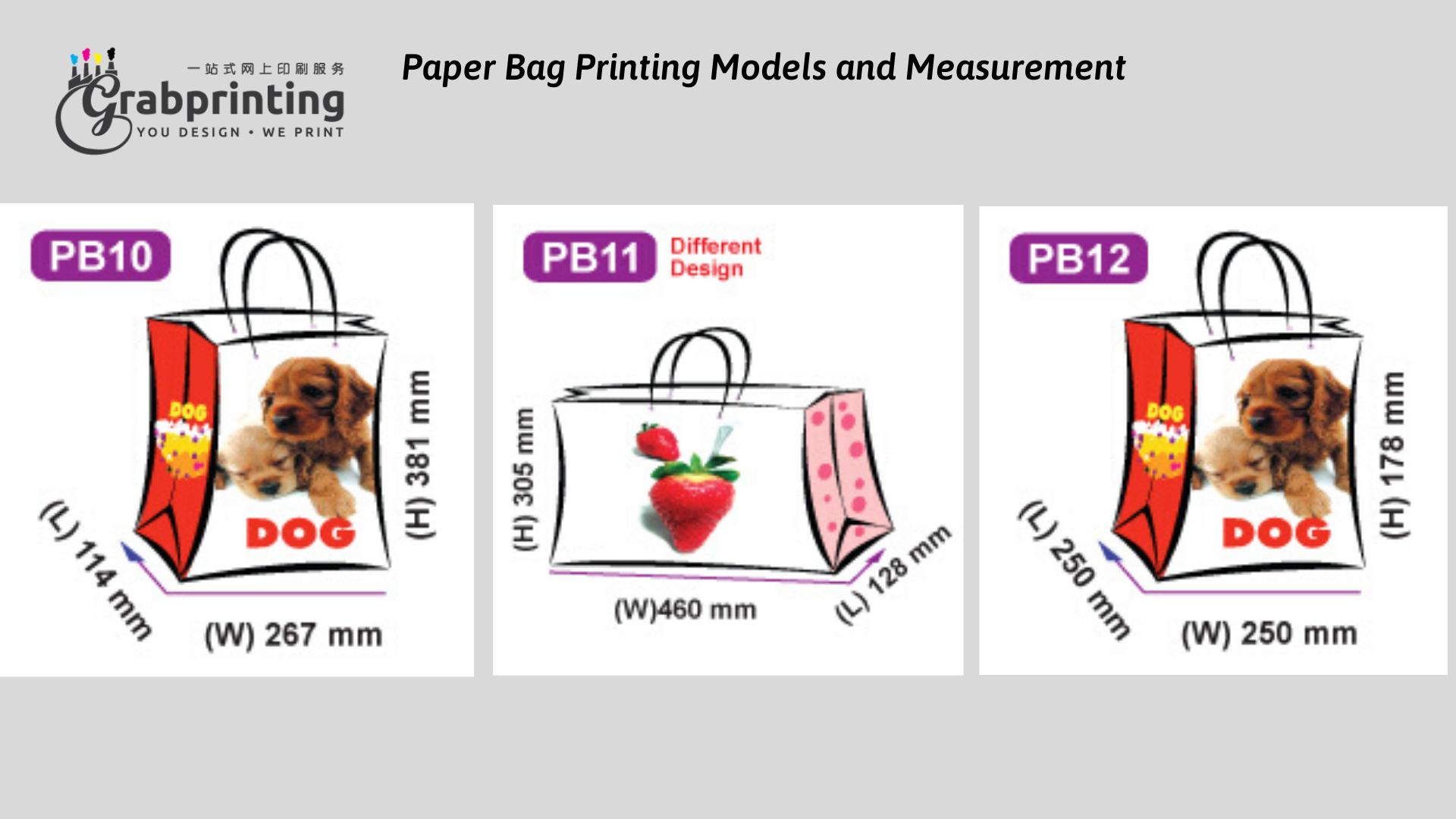Kraft Paper Bag Printing Paper Bag Printing Models and Measurement 4