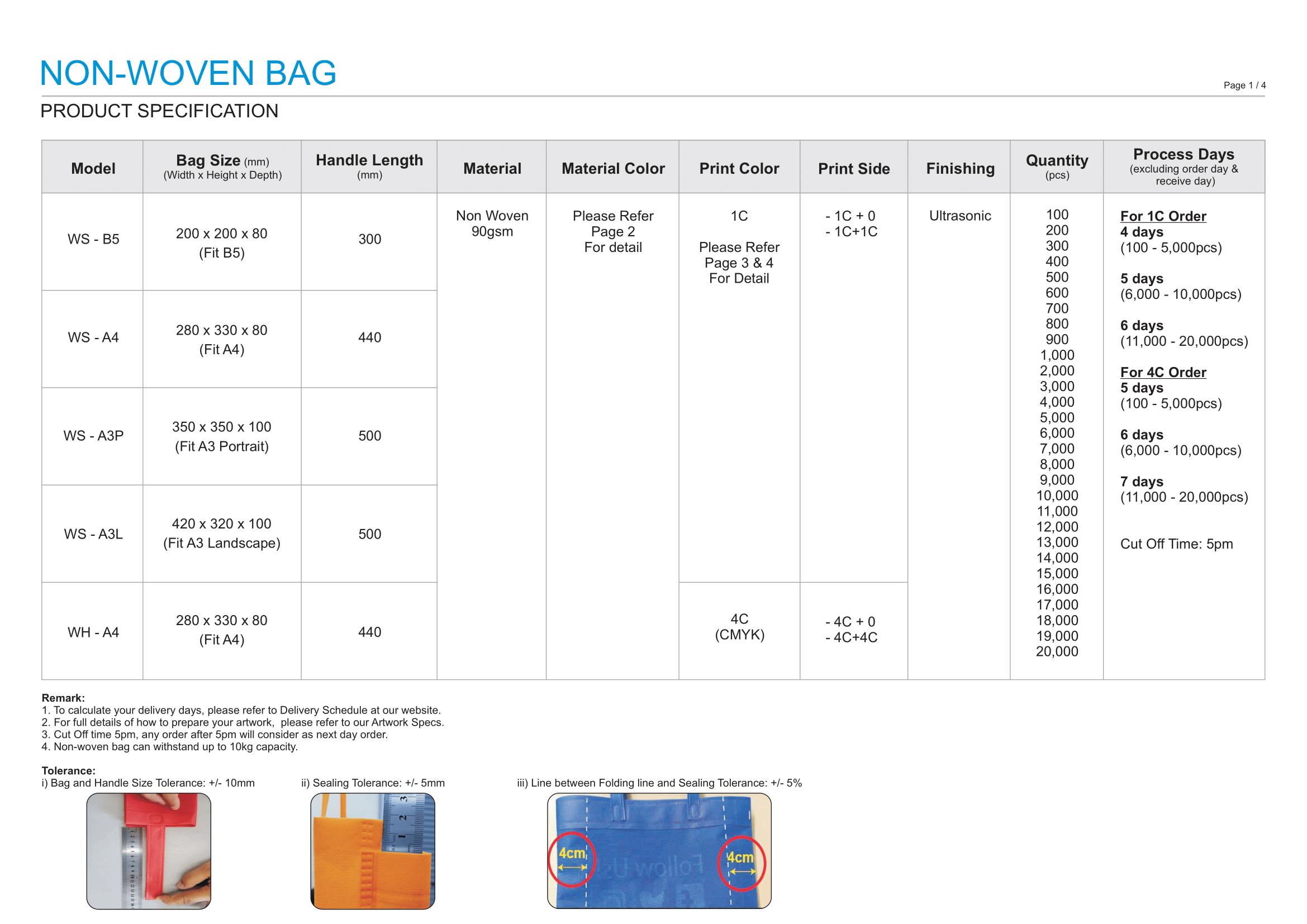 Non Woven Bag Printing Non Woven Bag LO 1
