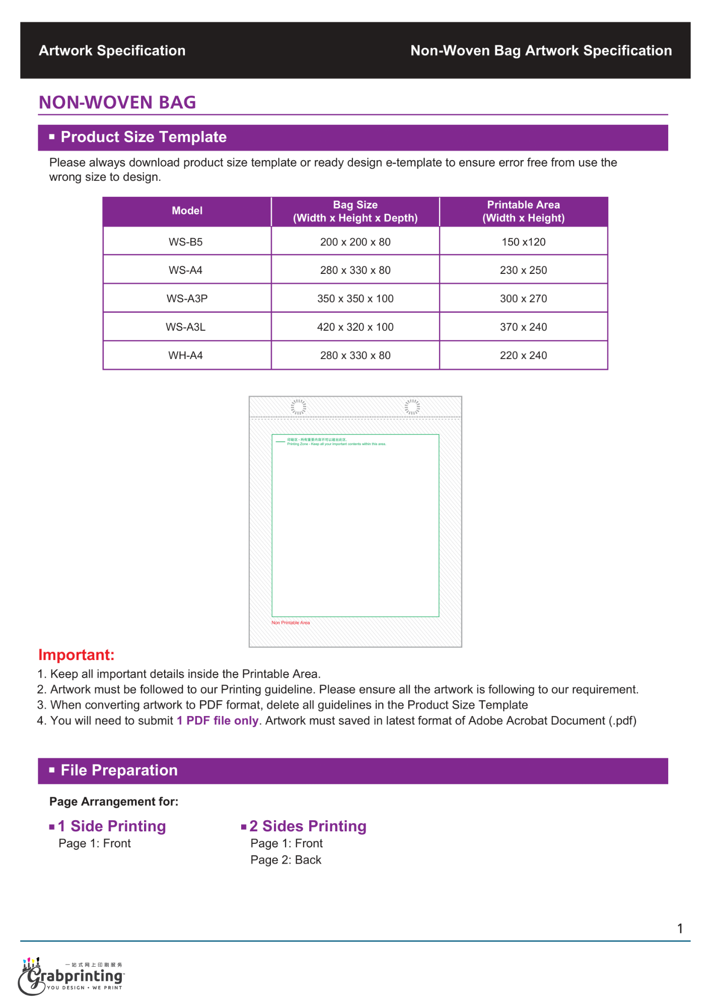 Non Woven Bag Printing Non Woven Bag Printing Artwork Guide 1
